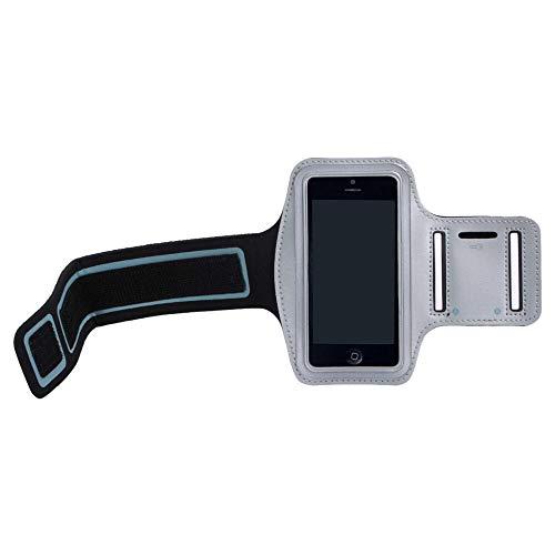 MASILY Sport Armband Handy Tasche Samsung Galaxy S4 Grau Fitness Joggen Schutz Hülle Neopren