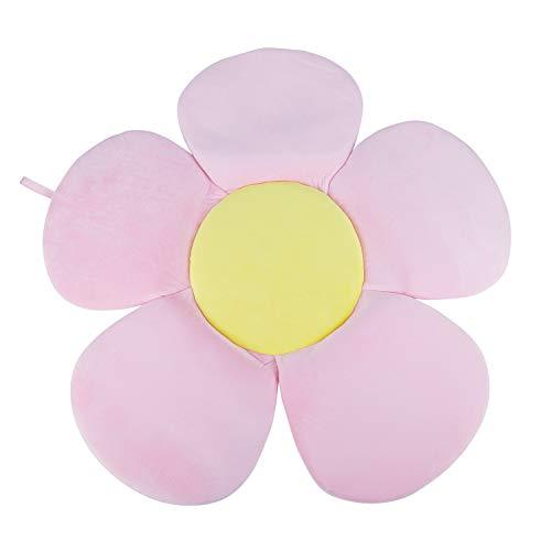 SODIAL Multifunktions Baby Badewanne Neugeborenen Faltbare BlüHende Blume Form Matte Weiche Decke Badewanne Sitz Sonnenblume Kissen Matte