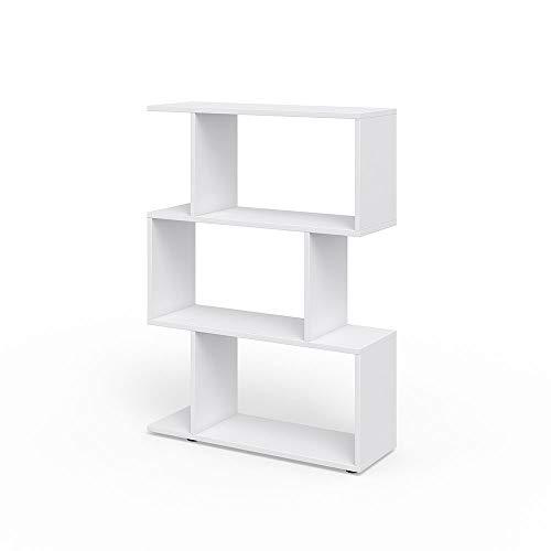 Vicco Raumteiler LEVIO Bücherregal Standregal Aktenregal Hochregal Aufbewahrung Regal (weiß)