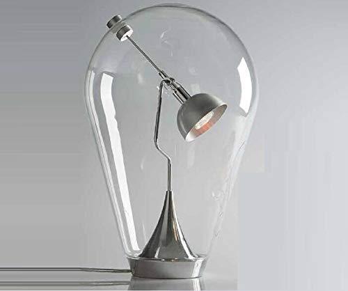 Bureaulampen, Lichttafels, Studiebureaus, Tafellamp, Nachtkastlampen Modekunst Glaslampen Moderne Minimalistische Draagbare Leesboeklamp Voor Studie, Slaapkamer, Kantoor, Enz Leeslampen,Clear,M