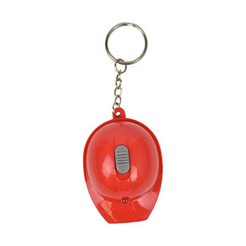 Hard Hat Flashlight Keychain Beer Opener Red