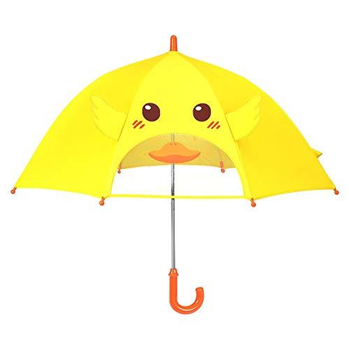 CNZXCO 2pcs Paraguas Transparente, Sillas, Pequeños Patitos Amarillos, Pequeñas Ventanas Transparentes, Niños, Niños Y Niñas, Pantallas De Bebé De Kindergarten (Color : Yellow)
