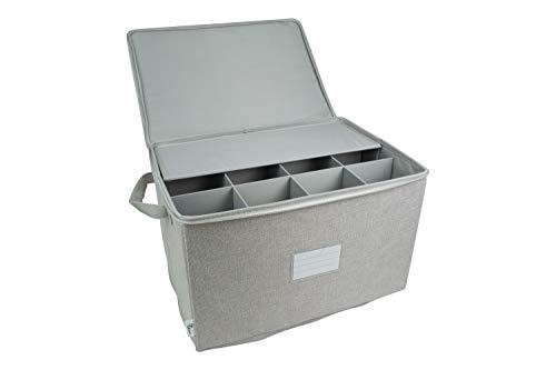 Hard Shell Wine Glass Stemware Storage China Storage Chest Containers