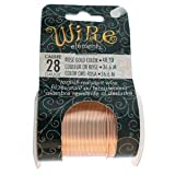 28 Gauge Tarnish Resistant Copper Wire 40 Yards Rose Gold Color for Art Jewelry Craft