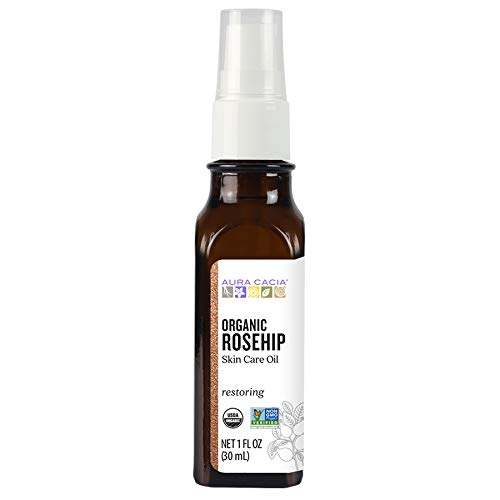 Aura Cacia Organic Rosehip Skin Care Oil | GC/MS Tested for Purity | 30ml (1 fl. oz.)