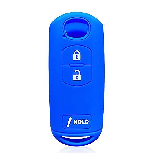 LZZCTB Cubierta de la llave del coche, llavero inteligente del silicón de la rana, cáscara protectora de la entrada sin llave, caja del botón, ajuste para Mazda 2 3 6 CX-3 CX-5 CX-7