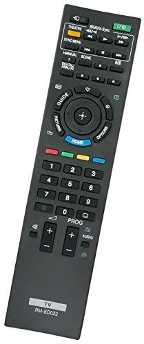 ALLIMITY RM-ED022 RMED022 Afstandsbediening Vervangen voor Sony Flat Panel Color Bravia TV KDL-22EX302 KDL-26EX401 KDL-32EX402 KDL-37EX302 KDL-32BX300U KDL-32EX302 KDL-37EX401U KDL-40EX401 KDL-40NX500