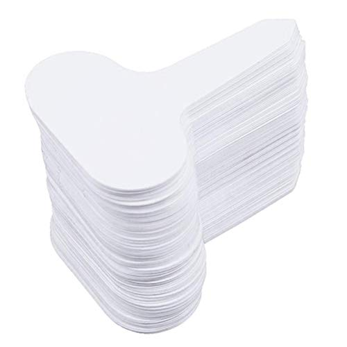 ghfcffdghrdshdfh 100Pcs Plastic T-Type Garden Tags Ornaments Plant Flower Label Nursery Thick Tag Markers for Plants Garden Decoration