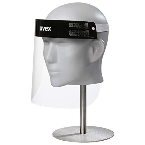Uvex face shield - pantalla proteccion facial, Unisex, black/clear, 54-64 cm