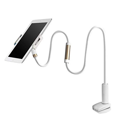 NXACETN Universal Tablet Stand Holder Gooseyneck Table Clamp Mount Compatible with Samsung Compatible with iPad Air Golden