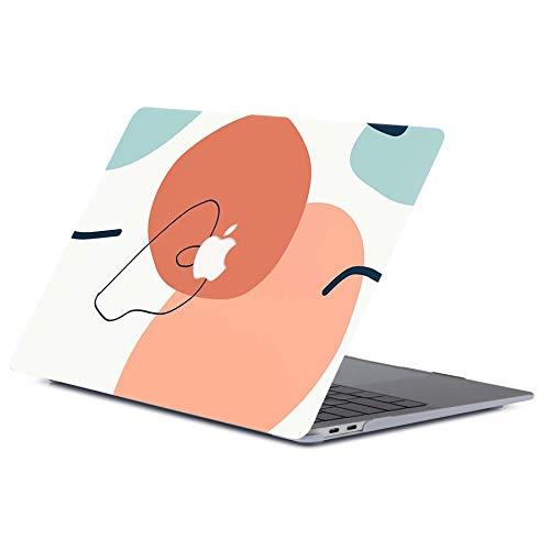 ACJYX Custodia per MacBook PRO 13 Pollici A2289/A2251/A2159/A1989/A1708/A1706, Custodia Rigida in Plastica per Laptop con Custodia Rigida per MacBook PRO 13, Semplice Motivo Geometrico