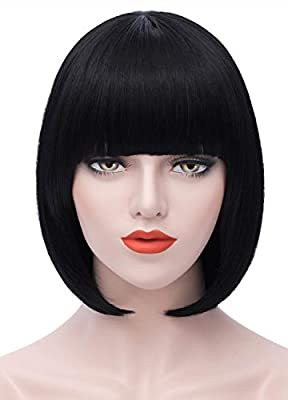 Mersi Short Wigs for Women Girls Colorful Cosplay Costume Party Wigs for Halloween S004Z1