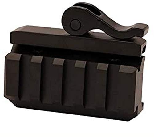 UTG 5-Slot QD Lever Mount Adaptor and Riser, Medium Profile , Black