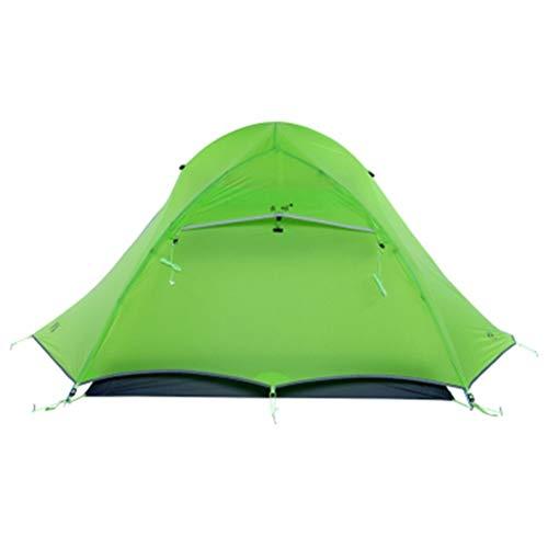 FTW Carpas Turísticas para 2 Personas Camping Ultraligero Al Aire Libre Carpas Profesionales De 3 Estaciones (Color : Green)