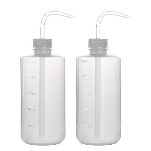 stonylab 2 Paquete 500 ml Botella de Lavado, Botellas de Plástico para Lavar con Presión, LDPE Material con Boca Estrecha, Squeeze Wash Bottle, 500 ml