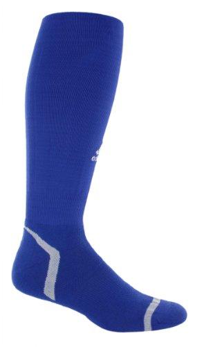 adidas Adizero Fútbol sobre la Pantorrilla Calcetines, Unisex, Cobalt Blue/White
