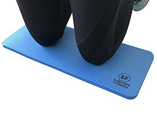 Sargoby Fitness Rodillera de Yoga de 15mm (0.6'') de Grosor   Cojín de Pilates para Dolor y Alivio de Rodillas, Codos y Muñecas   Esterilla de Entrenamiento   Pequeño Tapete de Rodilla de Yoga