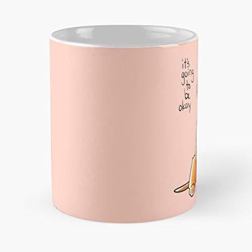 Cute Love Golden Encouragement Positive Pink Puppy Retriever Best Taza de café de cerámica de 315 ml, con texto en inglés 'Eat Food Bite John Best Taza de café de cerámica de 315 ml
