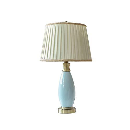 JYDQM Cobre Completa de cerámica lámpara de Mesa, lámpara de cabecera del Dormitorio Moderno Minimalista Inicio Sala de la lámpara