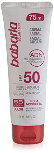 Babaria-Crema facial solar factor de protección alta 50SPF