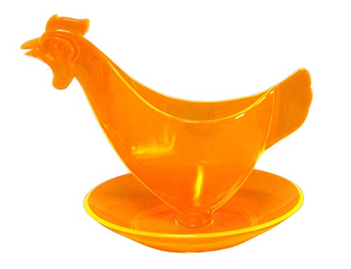Sonja-Plastic Eierbecher Huhn Leuchtorange - Der Kult-Eierbecher Made in Germany