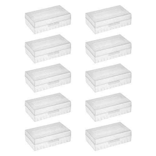 10er Pack Aufbewahrungsbox für 2X 21700 Akkus/Batterien - 10er Set