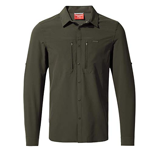Craghoppers M NosiLife Pro III Langarm Hemd Braun, Herren Hemd, Größe XXL - Farbe Dark Khaki