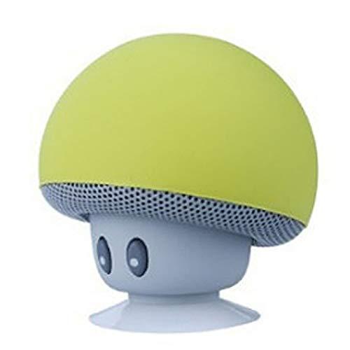 EisEyen Mushroom - Mini Altavoz inalámbrico con Bluetooth y micrófono para iOS y Android