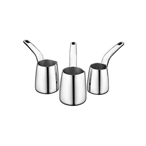 Korkmaz Vertex | 3-er | Mokkakannen | Kaffeekannen | Espressokannen | Mokkakocher | Kaffeekocher | Mokka-Set | Edelstahl | Türkischer Kaffee | Schwarz | A1235