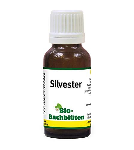 cdVet Naturprodukte Bio-Bachblüten Silvester 20 ml - Hund, Katze Pferd - Angst vor lauten Geräuschen+anderen Tieren oder Menschen - ohne Alkohol+Zucker - Bio-zertifiziert - Nachtkerzenöl -