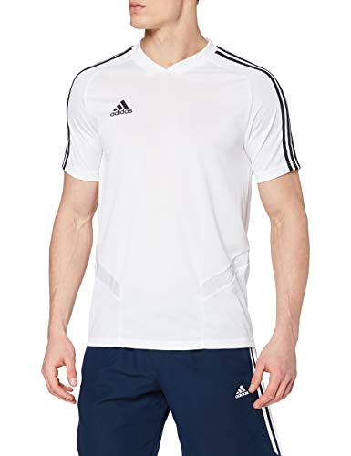adidas Tiro 19 Training Jersey, Hombre, Blanco (White/Black), S