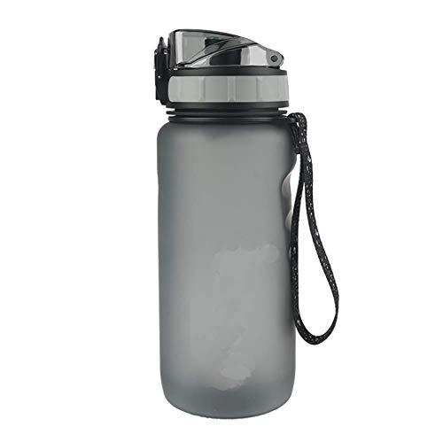 QKa Sport Bouilloire Outdoor Camping Sport ou Gym Yoga capacité 1000 ML débit d'eau Rapide, Couvercle Flip-Top, Un clic pour Ouvrir,Black