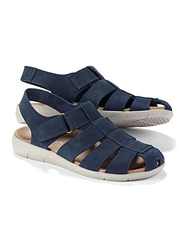 Walbusch Herren Bäcker Sandale einfarbig Blau 45