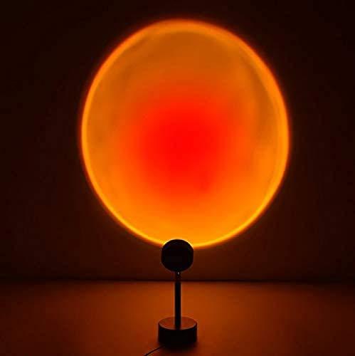 QAZW Lámpara de Proyección Sunset Light Proyector LED Sunset, Luz Nocturna Al Atardecer con Rotación de 180 Grados con USB, Decoración de Iluminación Romántica Puesta de Sol,SunsetRed