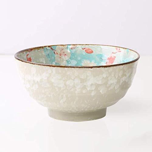 Jkckha Tazón de cerámica vidriado tazón vajillas color de la sopa ramen tazón hogar plato de fideos tazón tazón de arroz de 7,7 pulgadas