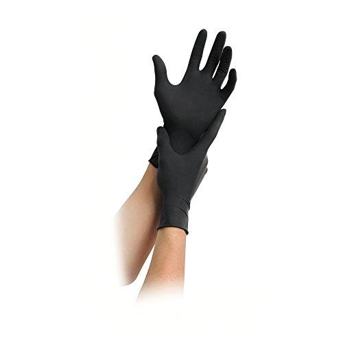MaiMed Nitril Black Einmal-Handschuhe puderfrei, schwarz, 100 St,M