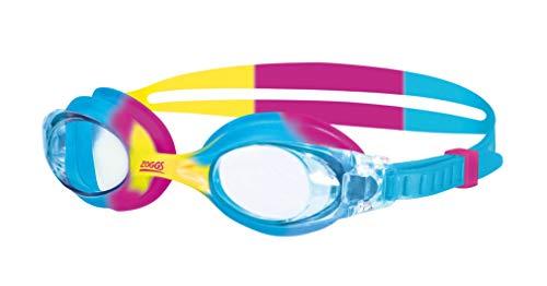 Zoggs Occhiali da Nuoto, Little Bondi Unisex Bambino, Blu/Giallo/Rosa/Clear, 0-6 Anni