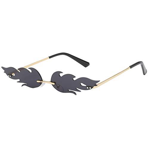 Lazzboy Mann Frauen Unregelmäßige Form Sonnenbrille Brille Vintage Retro Smart Change Semirandless Outdoor-reiten Sport Fahren Polarisierte Schutz Radfahren Skifischen Golf(B)