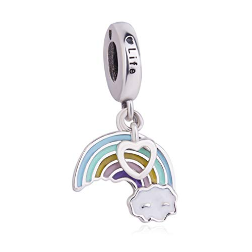 925 Sterling Silver Rainbow Charm Sun Charm Star Charm Heart Charm Birthday Charm for Pandora Charm Bracelet