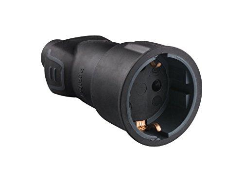 legran 050197 professionele stopcontactsocket, 3680 W, 230 V, zwart