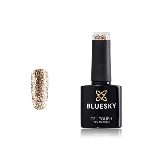 BLUESKY Soak-off-UV-/LED KS Range Glitter Colour Gel Nagellack, 10 ml, Luxus Gold
