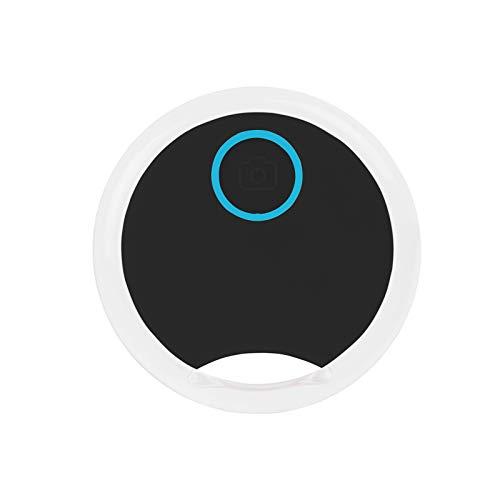 Mini Gato/Perro Localizador de Seguimiento GPS, portátil Inteligente Anti-pérdida para Mascota, Redondo Impermeable Dispositivo de alarmas Bluetooth (Nuevo25-Negro, One 1 Pack)