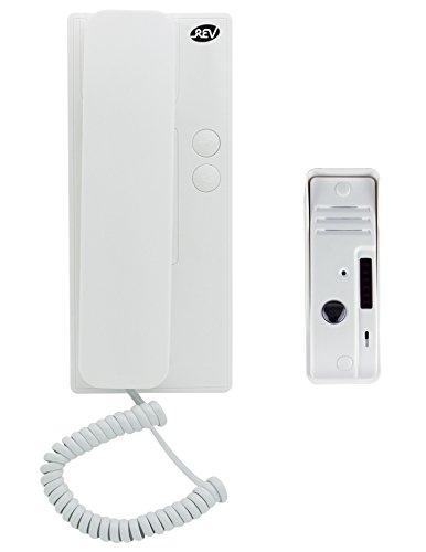 REV 003003101 Sprechanlage, Gegensprechanlage mit Türöffner, 230VAC, Alarmfunkt., weiss