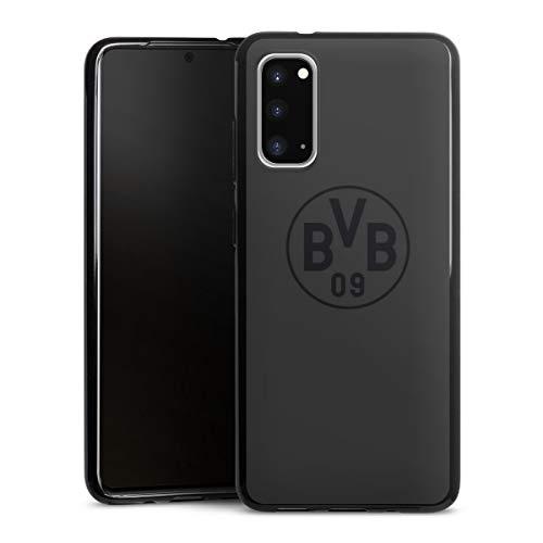 DeinDesign Silikon Hülle kompatibel mit Samsung Galaxy S20 Case schwarz Handyhülle Borussia Dortmund Logo BVB