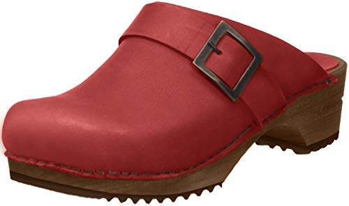 Sanita Damen Urban Open Clogs, Rot (Dark Red 44), 40 EU