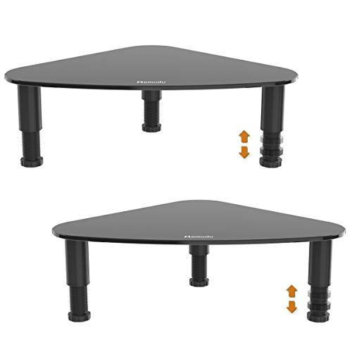 2 Pack Computer Monitor Stand Riser/Triangle Save Space Desktop Corner Stand for Computer, Laptop,HD01B-202P …