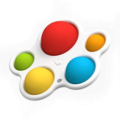 cheap4uk Tablero de volteo de Silicona Colorido Juguetes sensoriales para bebés y niños Juguete Educativo temprano Juguete para la dentición del bebé Concentración de Color de Desarrollo temprano