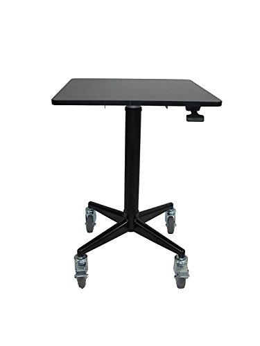 """ApexDesk AirDesk Series 24""""x24"""" Movable/Lockable Sit/Standing Desk, Pneumatic Height Adjustable 32"""" to 49.5"""""""