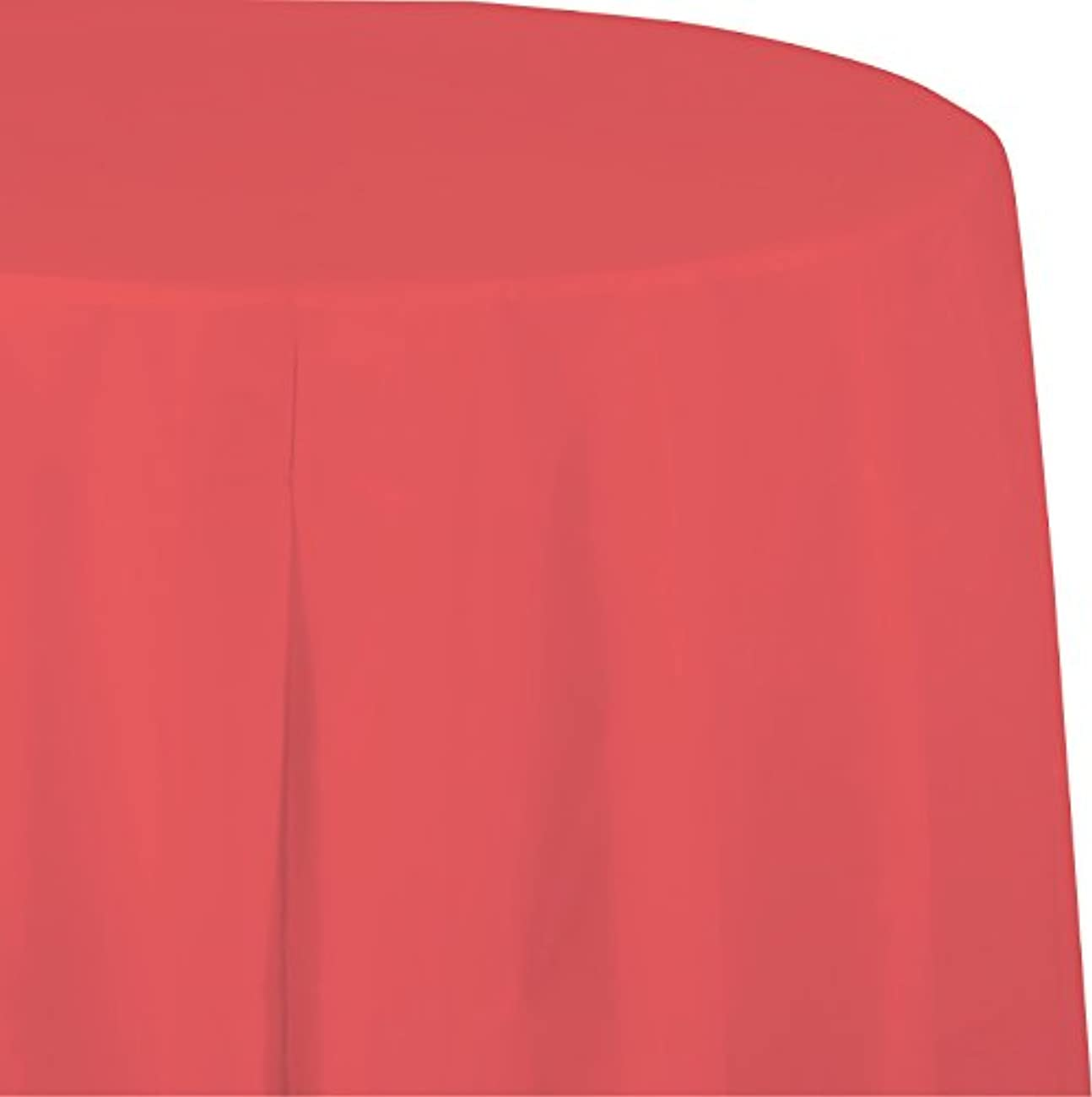 Creative Converting 923146 Touch of Color Round Paper Table Cover, 82