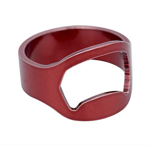 Abrebotellas anillo sacacorchos de anillo, anillo de acero inoxidable, abridor de botellas...